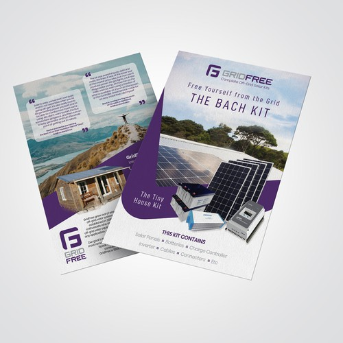 off-grid solar company flyer