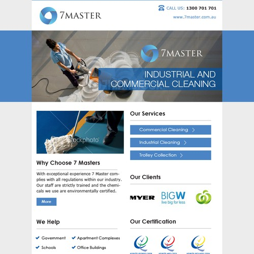 Email Design Template for Commercial Cleaning