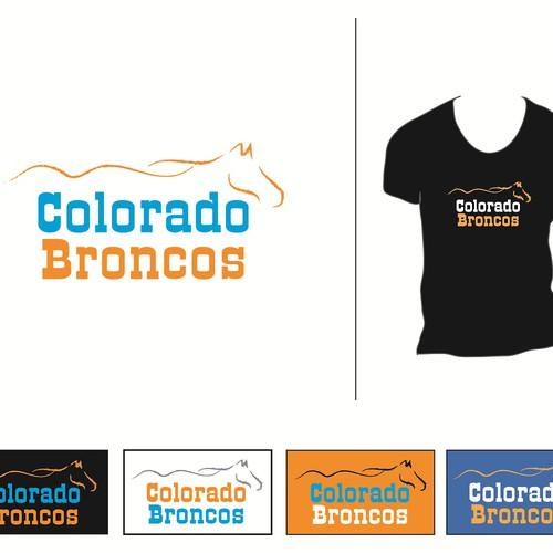 Vintage Colorado Broncos Logo For Shirt