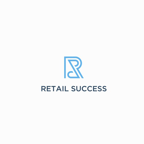 Create a brand icon that personifies technology and innovation for Retail Success $190