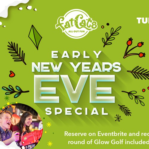 Digital Advert for Early New Years Eve
