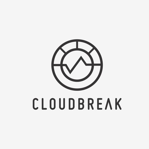 LOGO design for CLOUDBREAK, a new cutting-edge film production company.