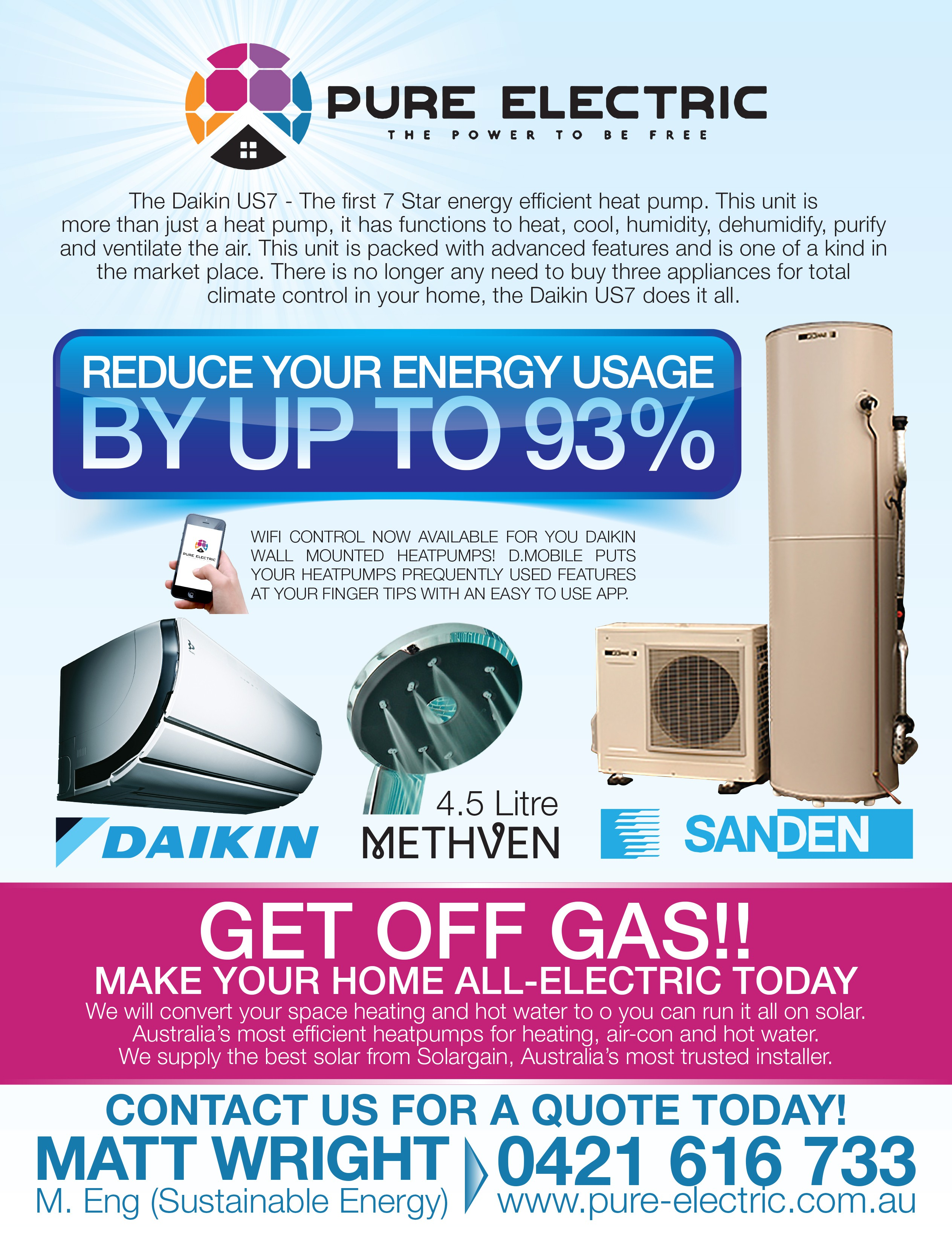 Pure Electric Total Home Conversions magazine advertisment