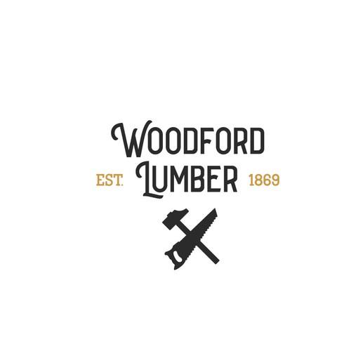 Woodford Lumber clothing line logo