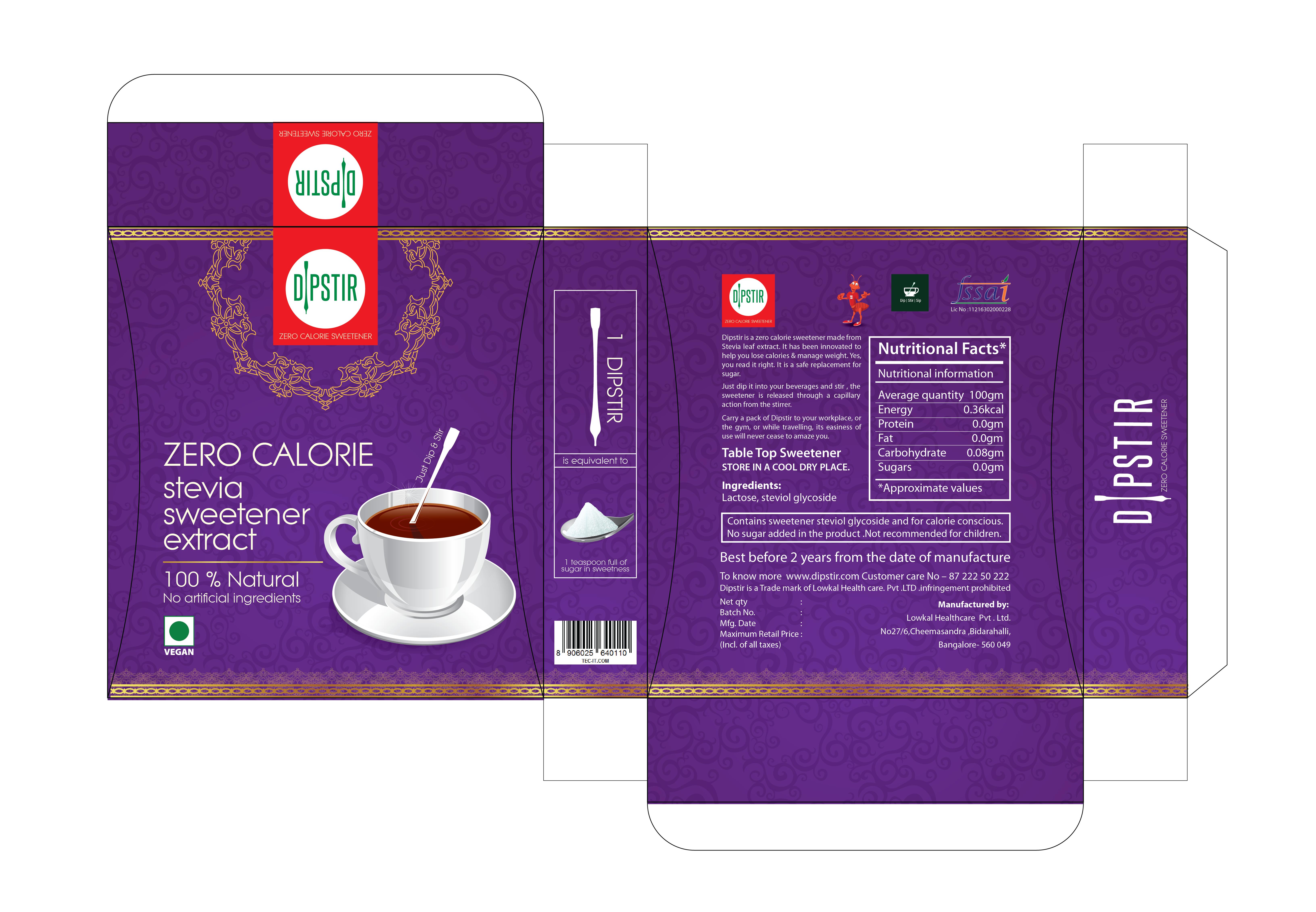 Create a revolutionary Packaging for  sweetener sticks.