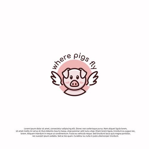 logo cocnept for where pigs fly