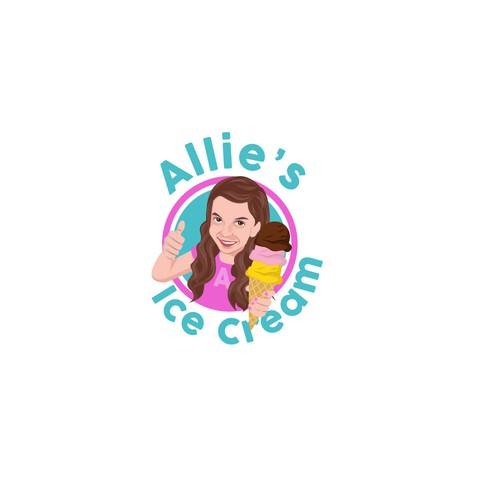 logo for allie's ice cream