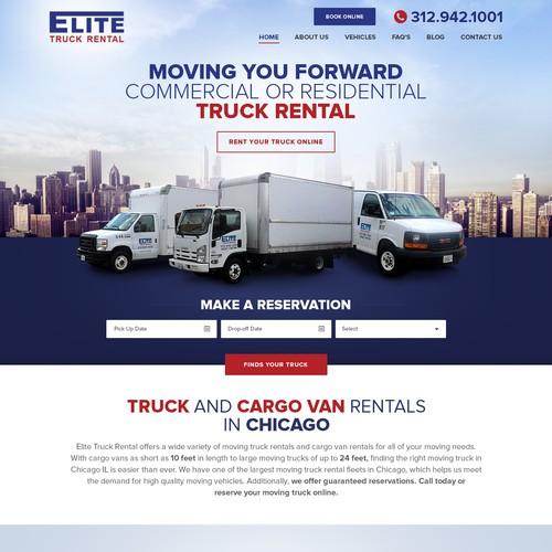 Landing Page - Elite Truck Rental
