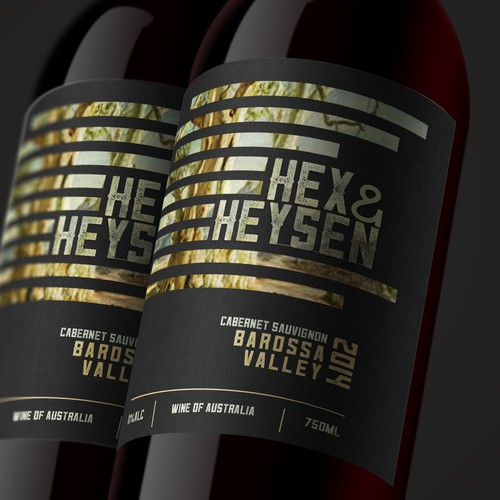 wine label for Hex&Hansen