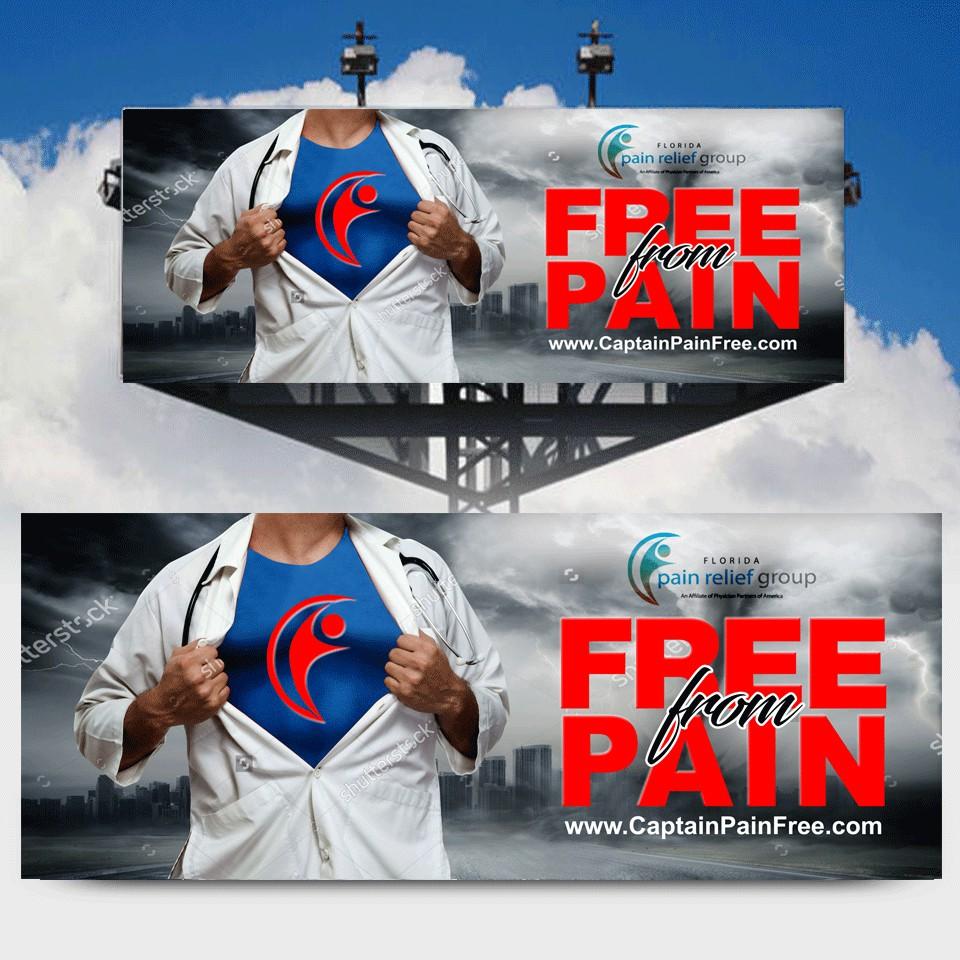 DESIGN FREE PAIN BILLBORD