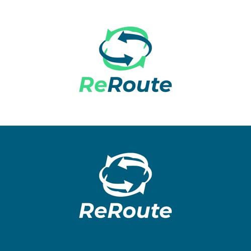 Logo concept for Reroute company