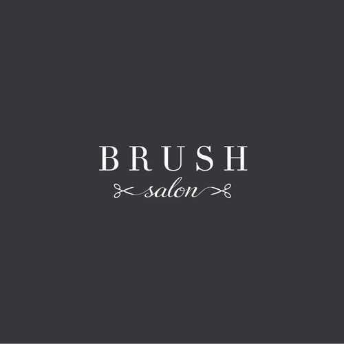 Design a modern and classy hair salon logo for Brush Salon