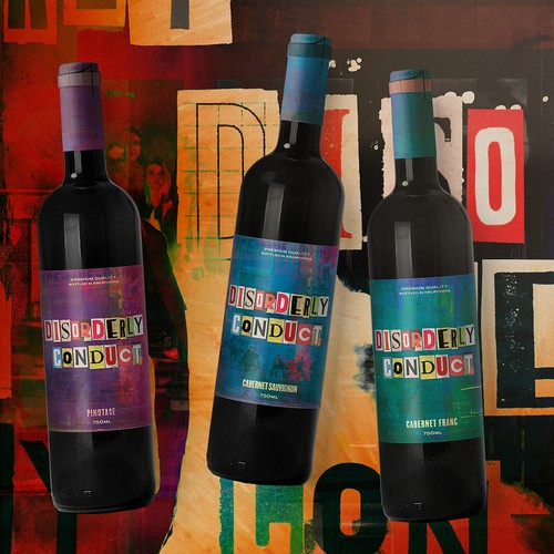 Disorderly Conduct Wine Label