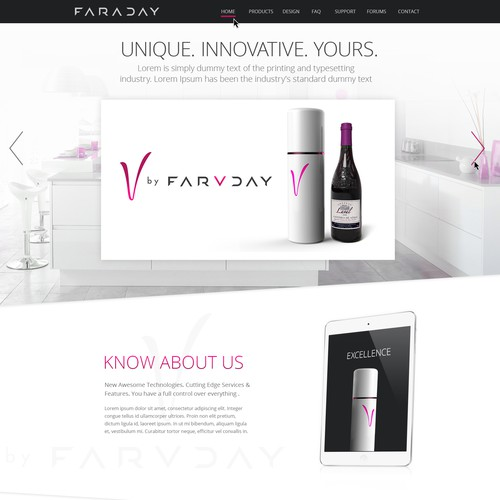 Elegant Landing page for New Tech Startup