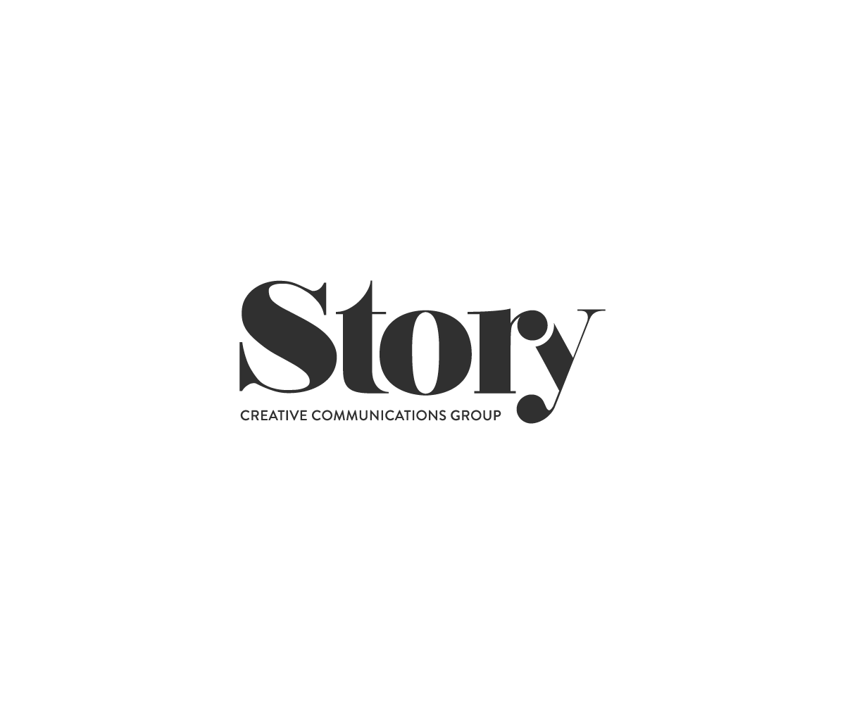 Create a vintage magazine-inspired modern logo for STORY Creative Communications Group!