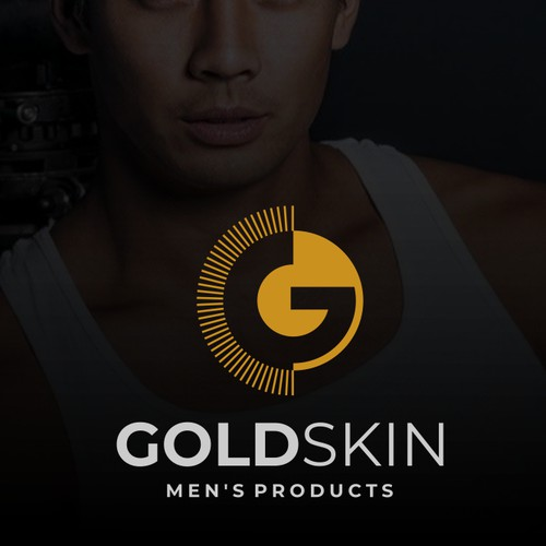 Bold logo for Gold Skin Men's Products