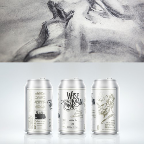Beer label for Wise Man Brewing