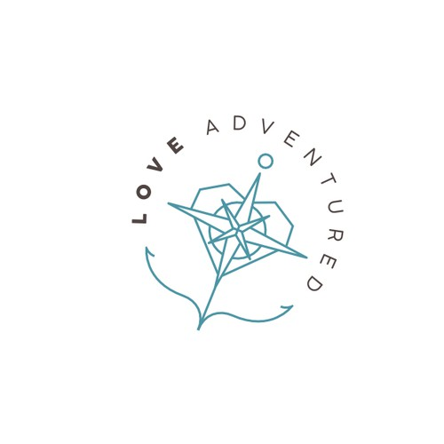 Logo design for adventure wedding photographers