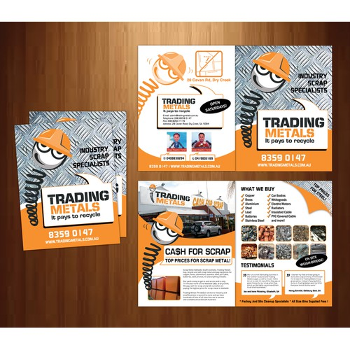 Help Trading Metals with a new brochure design