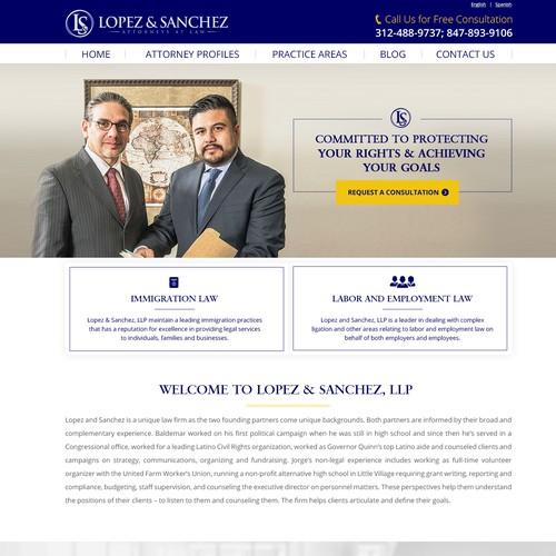 Landing Page - Lopez & Sanchez, LLP