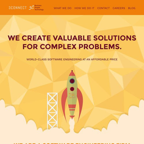 Original Website Design for Software Company