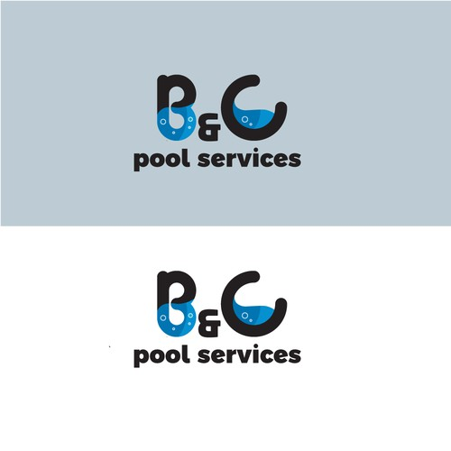 logo concept for B&cC pooL SERVICES