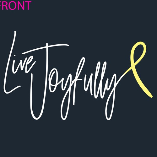 Screenprint T-shirt Design for Childhood Cancer Awareness