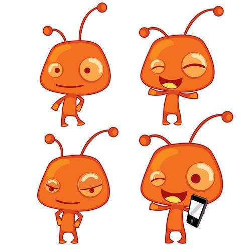 imaginary mascot for a toyshop for children
