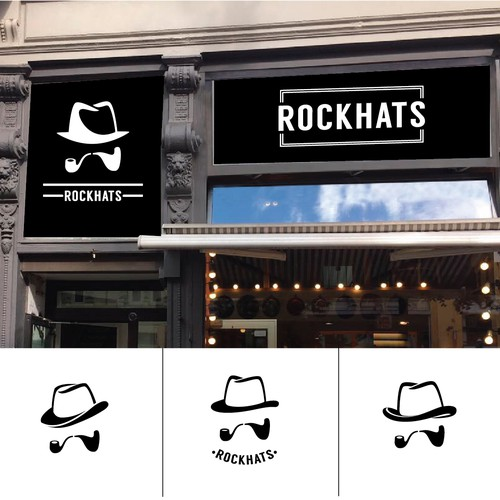 playful logo for hat shop