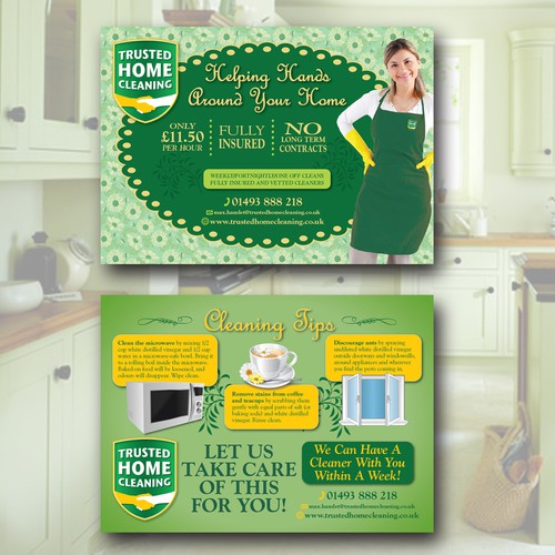 Trusted Home Cleaning Postcard