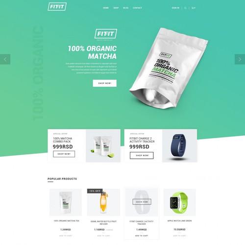 Fit-Fit Ecommerce website