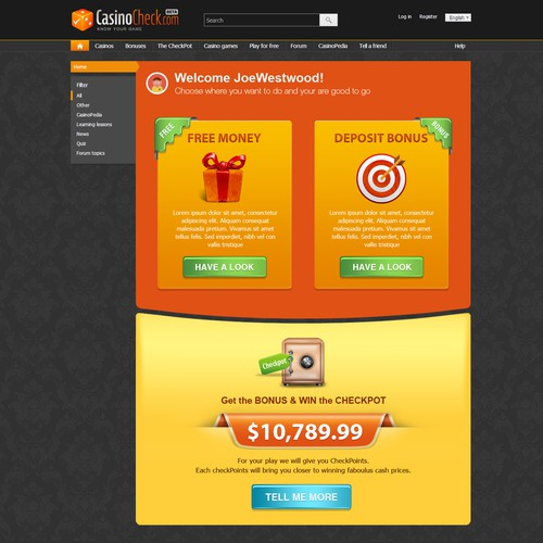 Redesign 6 Key Conversion Pages for CasinoCheck.com
