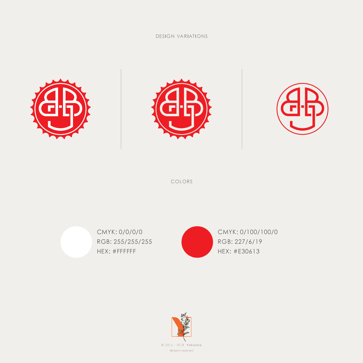 "BBJ monogram design from the contest ""Japan's next top beer company logo"""