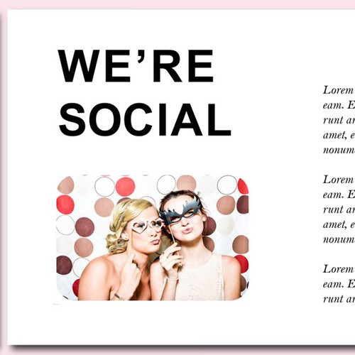 Fun powerpoint presentation for new event company