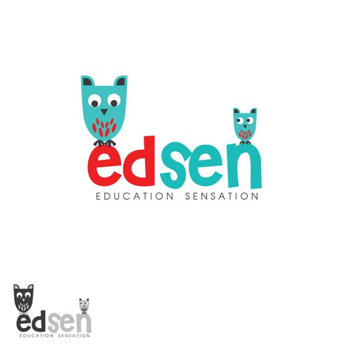 FUN, Bright, Eye-Catching Logo for Online: Education + Children