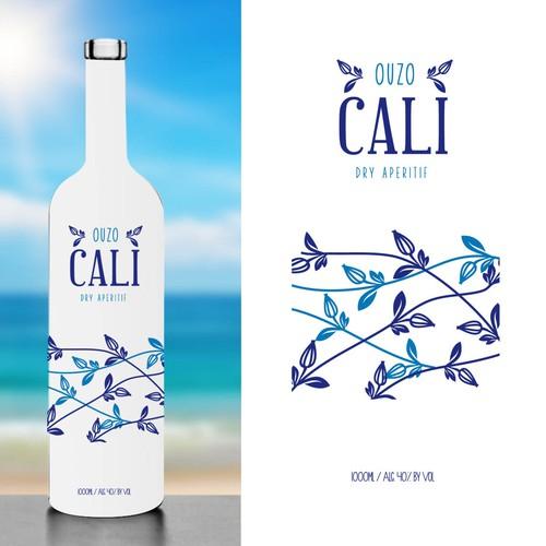 Packaging design for Ouzo Cali