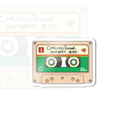 Cassette Illustration Sticker