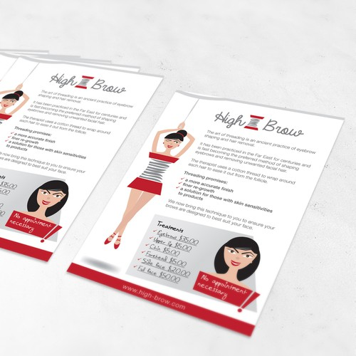 Playful logo & flyer for a new beauty service targeting busyprofessional girls