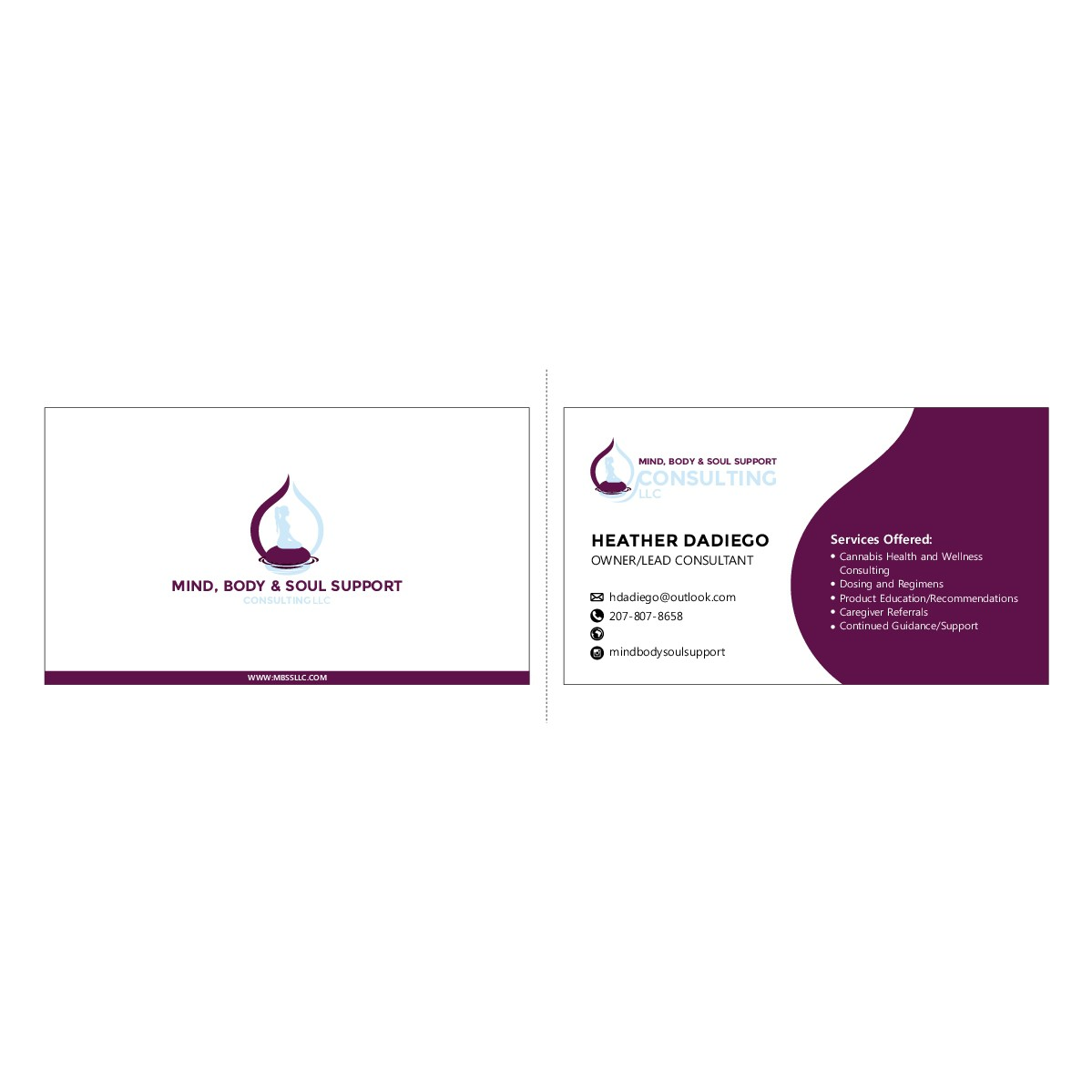 Business card and update logo