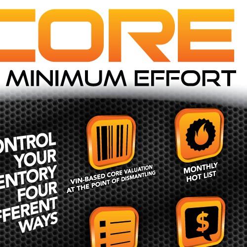 MAXCORE - Half Page Ad Design