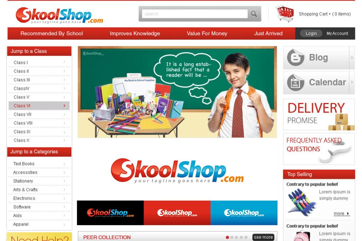 Help SkoolShop.com with a new logo