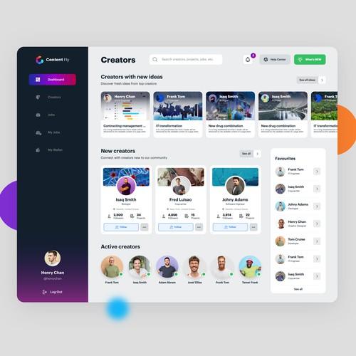 Creators dashboard