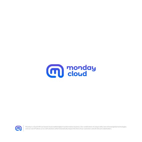 Monday Cloud logo concept
