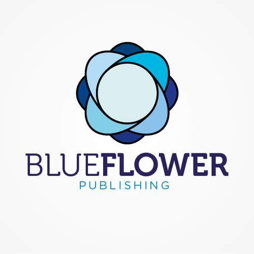 Challenge! Make an exciting logo out of a floral subject for Blue Flower Publishing