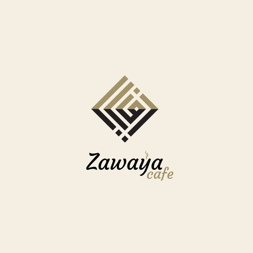 logo for Zawaya cafe شعار عربي لزوايا