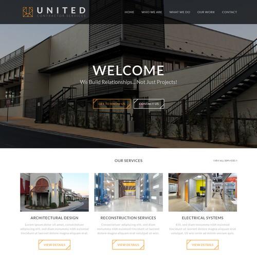 New contractor website