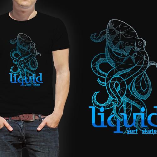 Liquid T-shirt design contest winner