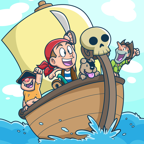 Pirate Kid for CD Cover.