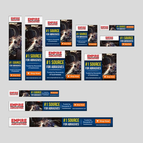 Banner Ad Design for Empire Abrasives