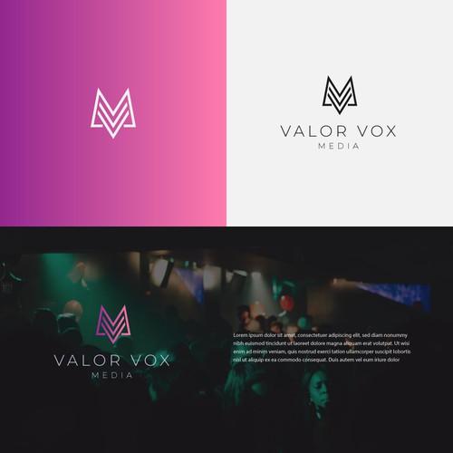 unique logo for valor vox media